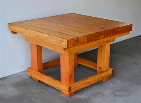 heavy duty table heavy duty wood workshop table solid redwood table