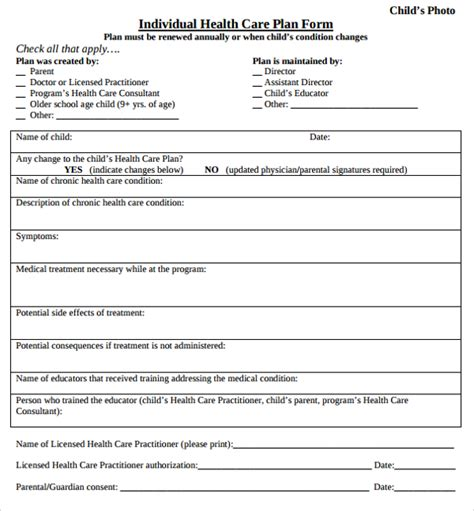 10 Health Plan Templates Sle Templates Wellness Plan Template