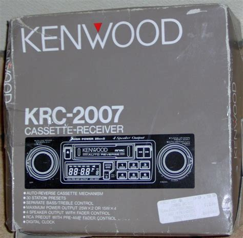 Two Knob Car Stereo by Find Kenwood Krc 2007 Am Fm Cassette Car Stereo Radio 2