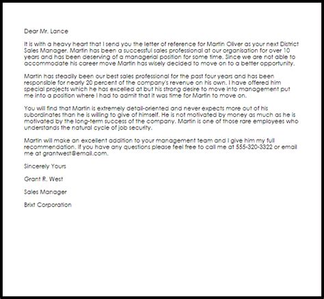 Letter Of Recommendation Administrative Assistant manager reference letter reference letters livecareer