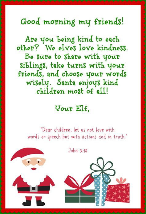printable elf story elf on the shelf printables that instill good habits with