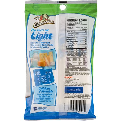 Frigo Light String Cheese Nutrition Nutrition Ftempo Light String Cheese Calories