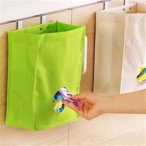 Cabinet Door Trash Bag Holder Kitchen Storage Bag Drawer Cabinet Door Back Garbage Bag Holder Hanging Organizer Alex Nld