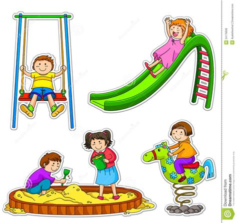 painting to play for free school playground clipart