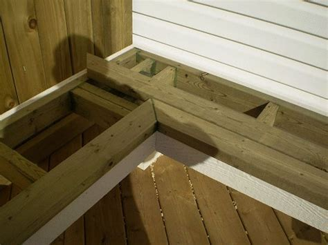corner deck bench 52 best images about deck bench on pinterest deck benches bench seat and built in bench