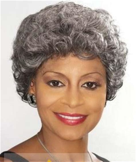 8 inch short curly male female wigs for black women 8 inch new impressive short curly gray african american
