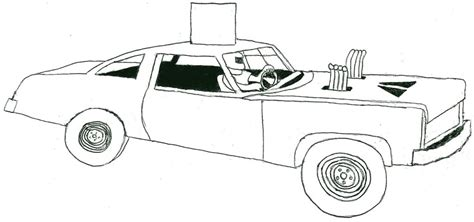 Derby Car Coloring Page | demolition derby car coloring pages projects to try