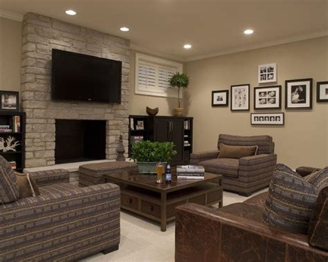 room recess idea best tv on wall above fireplace ideas for basement family room with recessed lighting and
