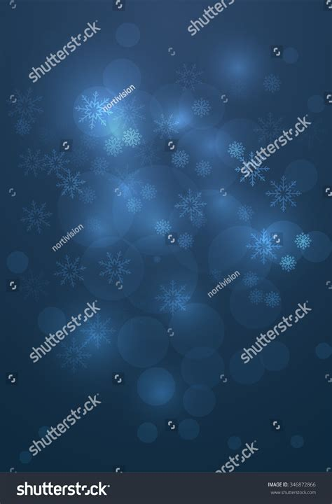 Abstract Christmas Background Template Falling Snowflakes Stock Vector 346872866 Shutterstock Falling Snow After Effects Template