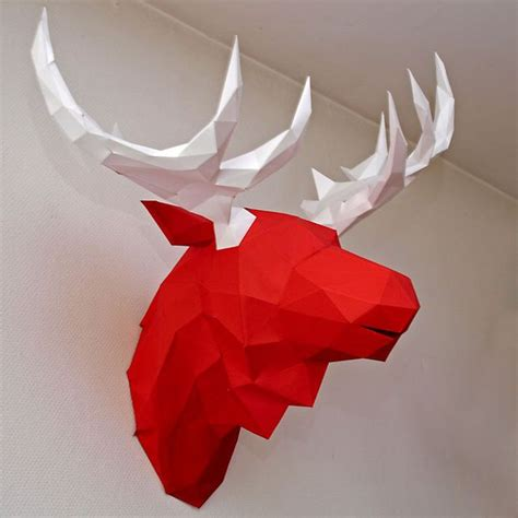 Papercraft Deer - bonus the papercraft moose moose papercraft and animal