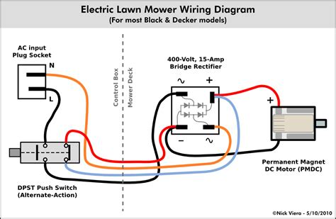 electrical wiring diagram nick viera electric lawn mower wiring information