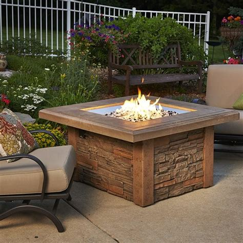 outdoor greatroom table pit table square