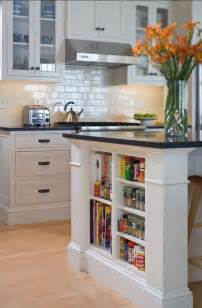Kitchen Island With Shelves 15 Unique Kitchen Ideas For Storing Cookbooks