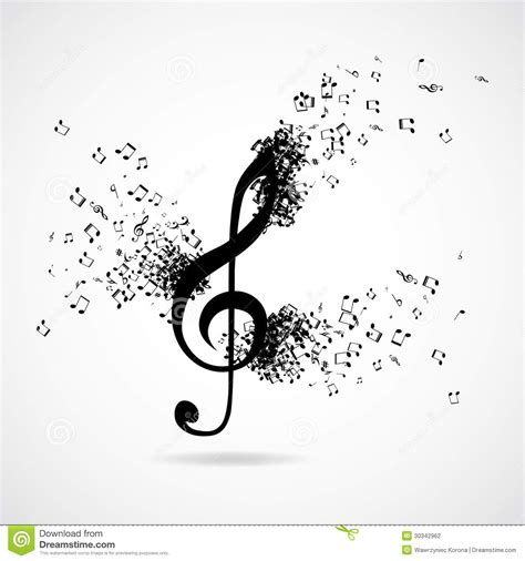 treble clef with burst effect stock photography image