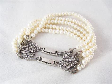 Pearl Handmade Jewelry - freshwater pearl bracelet bridal pearl jewelry vintage