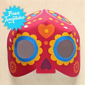 Day Of The Dead Mask Template by Dia De Los Muertos Mask Craft Easy Diy Calavera Mask