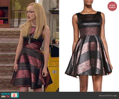 Camerons Kinda Sorta Dress by Wornontv Maddie S Striped Prom Dress On Liv And Maddie