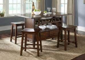 piece french bistro dining set: rectangular counter height center island table set by liberty bistro