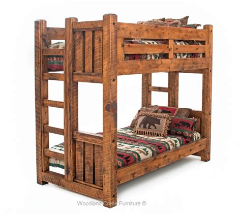 wood bunk bed solid wood bunk bed barn wood bunk bed rustic bunk bed