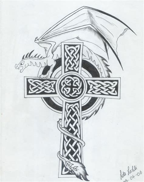 celtic cross with dragon tattoo 55 cross tattoos designs and pictures