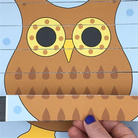 printable owl puzzle owl puzzles