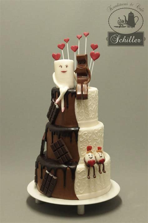 Hochzeitstorte Kinderschokolade by Hochzeitstorten Konditorei Caf 233 Schiller