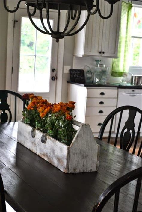 farmhouse kitchen table centerpiece 1000 ideas about dining room table centerpieces on