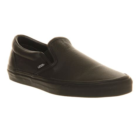 Black Master Boots Slip On Black vans classic slip on shoes black mono leather unisex sports
