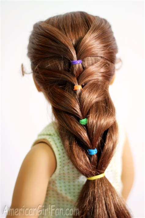 Ag Hairstyles by Doll Hairstyle Rainbow Ponytail Americangirlfan