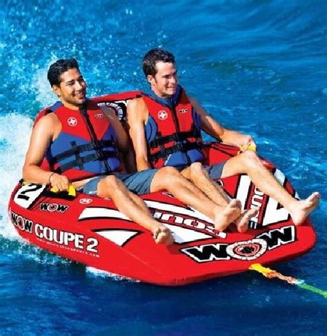 1 person boat tube wow 2 person coupe cockpit tow tube red ebay