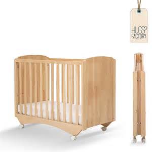 Foldable baby crib greenwich by hugs factory made in wood at my