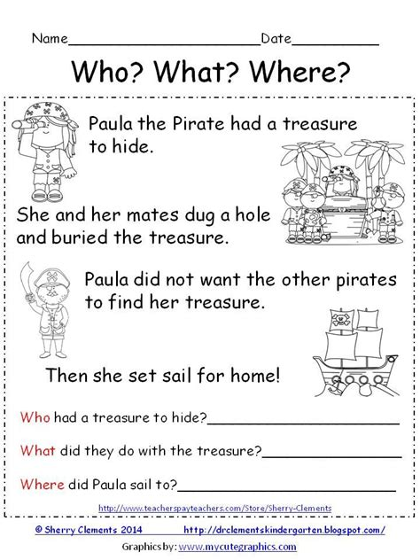 themes short story leaving freebie reading comprehension who what where paula