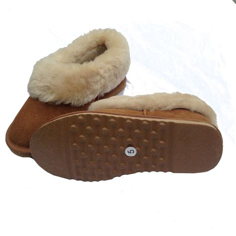 boot slippers deluxe sheepskin slipper boot chestnut
