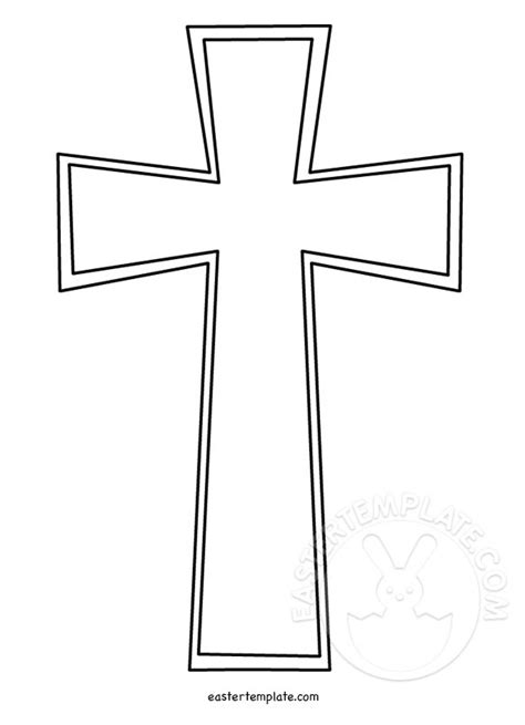 religious card template for to color christian cross template easter template