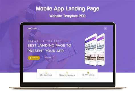 mobile app site template mobile app landing page website template psd at