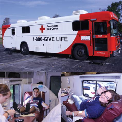 mobile blood drive giving back to the community tex visions gets