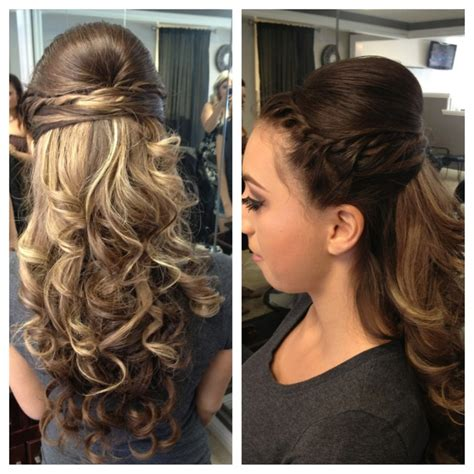curly hairstyles hair up my curly half up do hair style for prom my style pinterest