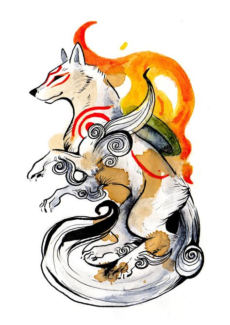 okami amaterasu by rubisfirenos on deviantart