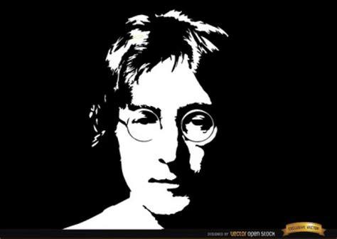 imagenes de john lennon en dibujo retrato de john lennon en blanco y negro descargar