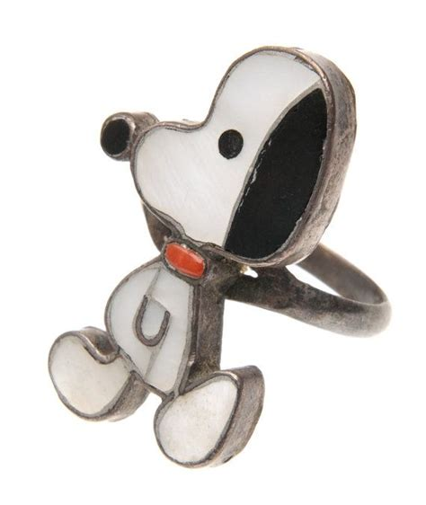 pawn zuni inlay snoopy from peanuts by schulz sterling