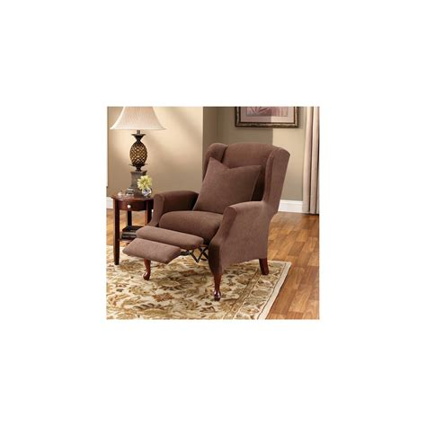 Sure Fit Wing Chair Recliner Slipcover by Sure Fit Stretch Pique Wing Recliner Slipcover Ebay