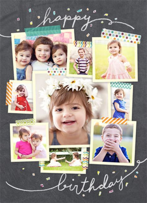 collage birthday card template photo collage on chalkboard happy birthday card cardstore