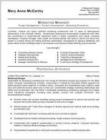 Marketing Manager Resume Exles by Marketing Resume Templates Printable Templates Free