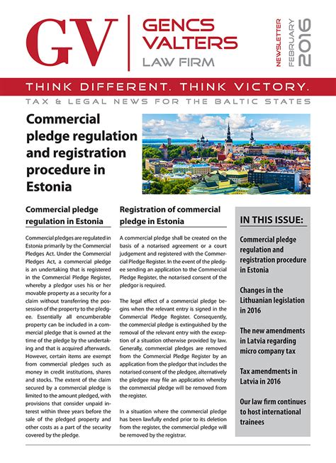 The Newsletter New Issue by Valters Gencs New Issue Of Gencs Valters Firm