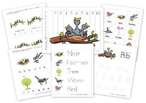 kindergarten activities birds bird preschool pack