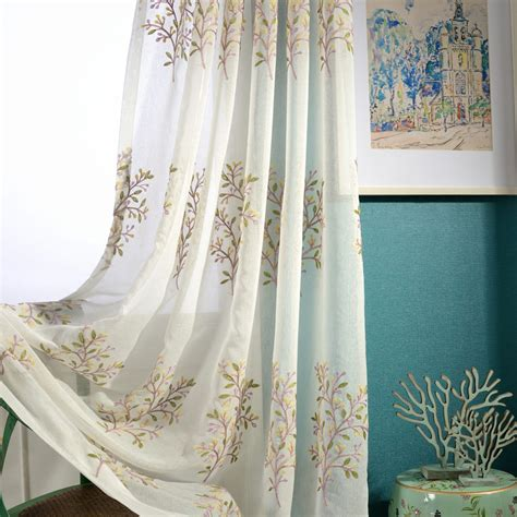 colorful bedroom curtains aliexpress com buy modern minimalist embroidered tulle