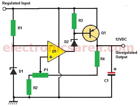 12v zener diode power supply 12v power supply using zener and 741 op electronics area