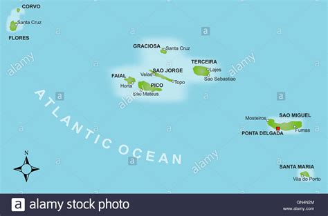 map of azores map azores stock photo 116274332 alamy