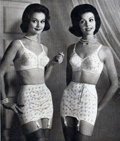 women in old fashioned lingerie 50ies vintage girdles and bra vintage lingerie ads