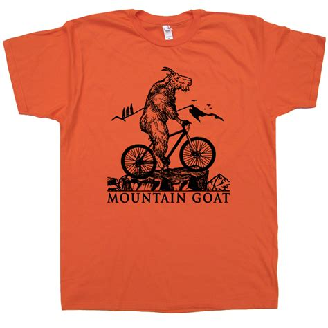 T Shirt Bike mountain goat t shirt mountain bike t shirt